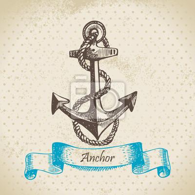 Anker. Hand gezeichnete Illustration