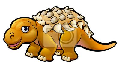 Bild Ankylosaurus Dinosaurier Cartoon Charakter