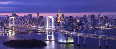 Bild Ansicht der Bucht von Tokio, Regenbogenbrücke und Tokyo Tower Wahrzeichen