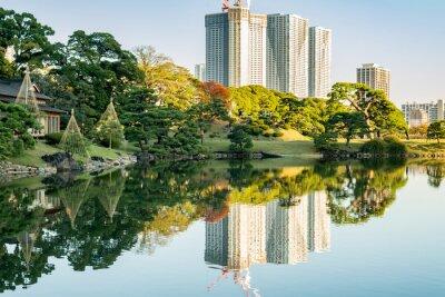 Bild Ansicht des tokyo Stadtbildes mit Park