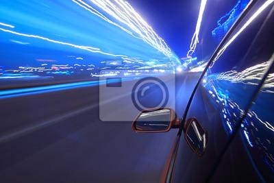 Ansturm Auto, Motion Blur steet Licht.
