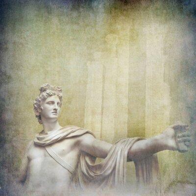 Bild Antike hellenistische Skulpturen auf grunge Hintergrund