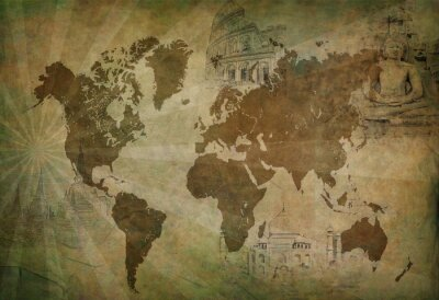 Bild Antike Reisekarte