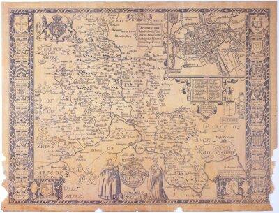 Bild Antique Oxfordshire Karte
