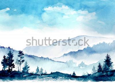 Bild Aquarell Berge