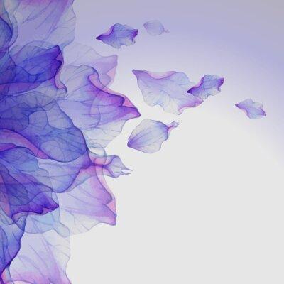 Bild Aquarell Blumen runde Muster.