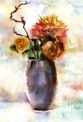 Bild Aquarell Blumenstrauß