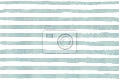 Bild Aquarell hellblau Streifen Grunge-Muster.
