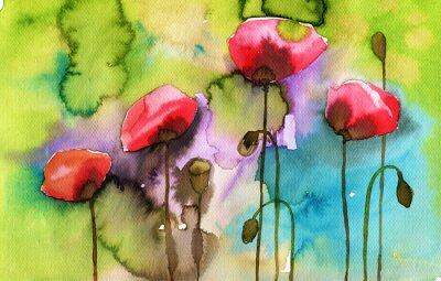 Bild Aquarell Illustration, die Frühlingsblumen auf der Wiese