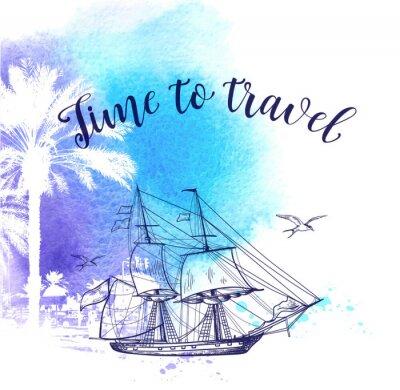 Bild Aquarell Reise Hintergrund
