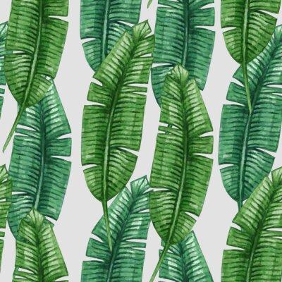 Bild Aquarell tropische Palme Blätter nahtlose Muster. Abbildung.