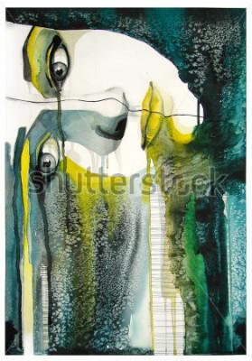 Bild Aquarellportrait des schönen Mädchens | handgefertigt | selbst gemacht | Gemälde