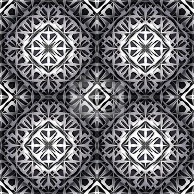 Arabesque metallischen nahtlose Muster.