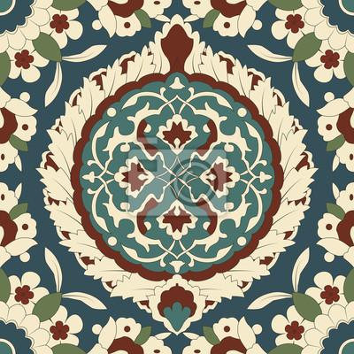 Bild Arabesque nahtlose Muster in bearbeitbare Vektordatei