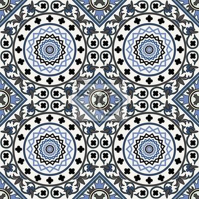 Bild Arabesque nahtlose Muster in blau