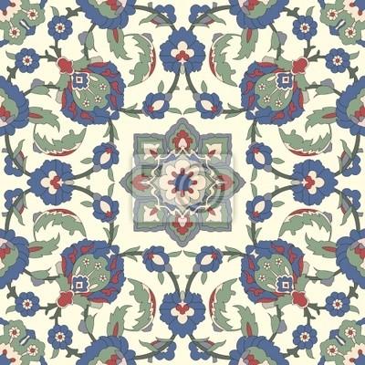 Bild Arabesque nahtlose Muster in editierbare Vektor-Datei