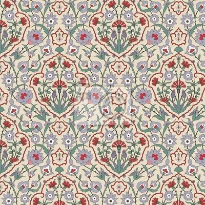 Bild Arabesque nahtlose Muster mit Nelken
