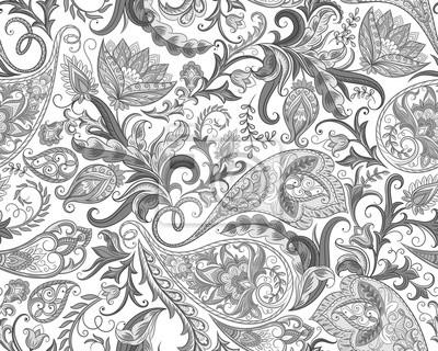 Arabic Flowers Seamless Pattern