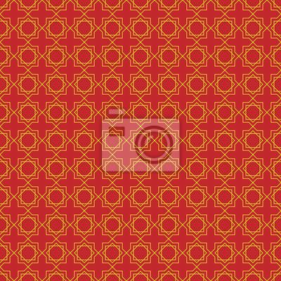Arabischer geometrischer hintergrund. nahtloses muster des ...