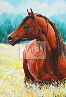 Arabisches Pferd Acryl gemalt.