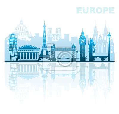 Architektonische Sehenswürdigkeiten von Europa