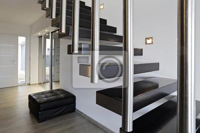 Architektur escalier moderne intérieur maison design leinwandbilder ...