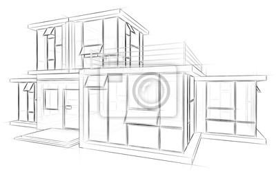 Bild Architektur Skizze Zeichnung Haus