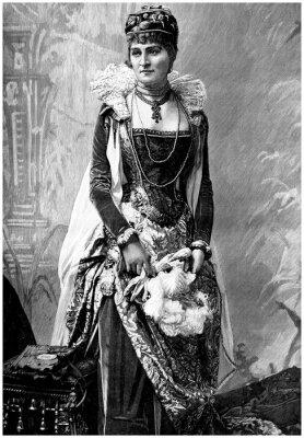 Bild Aristokratische Dame (19. Jahrhundert) mit Wears 16. Jahrhundert