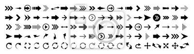 Bild Arrows set of 100 black icons. Arrow icon. Arrow vector collection. Arrow. Cursor. Modern simple arrows. Vector illustration.