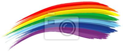 Bild Art Regenbogen abstrakten Vektor Hintergrund Pinselstrich