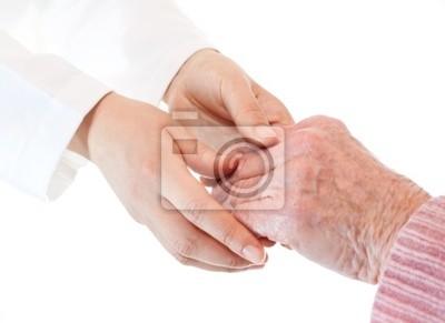 Arzt und Senior Hände