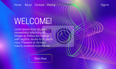 Asbtract vibrant background design. Landing page template with colorful dots array.