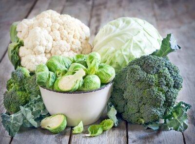 Bild Assortment of cabbages