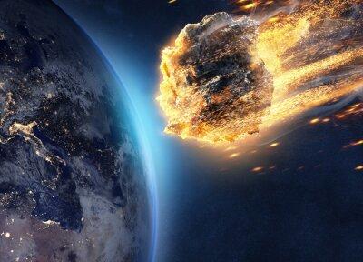 Bild Asteroid fliegt auf Erde zu