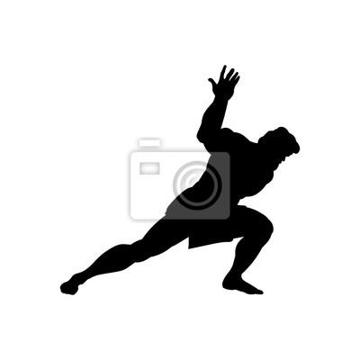Bild Athlete sportsman silhouette strong male. Vector illustration.