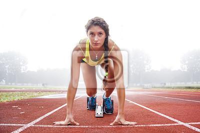 Bild Athleten auf den Startblöcken