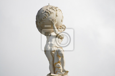 Bild Atlas-Gott-Statue
