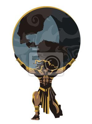 Bild atlas holding the world