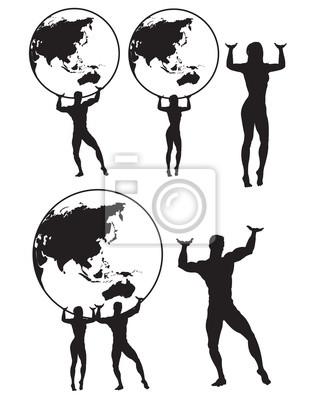 Bild Atlas Silhouette