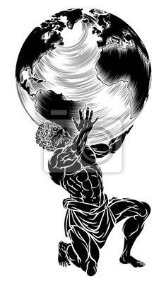 Bild Atlas Titan, der Kugel hält