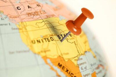 Bild Auf der Karte Red Pin.