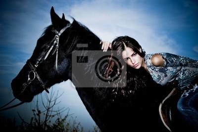 auf einem Pferd