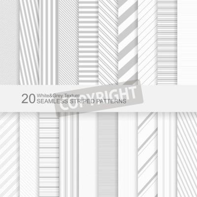 Bild Auf fotobeschreibung: Nahtlose gestreifte vektormuster, weiße und graue Beschaffenheit.