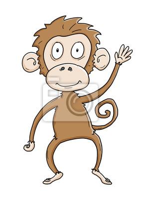 Bild Ausmalbild Affe Koloriert