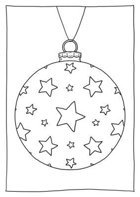 Ausmalbild Christbaumkugel Sterne Leinwandbilder Bilder Ferienzeit