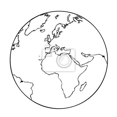 Ausmalbild Erde Leinwandbilder Bilder Unternehmen Vektor