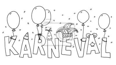 Bild Ausmalbild Karneval