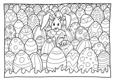 Bild Ausmalbild Ostern