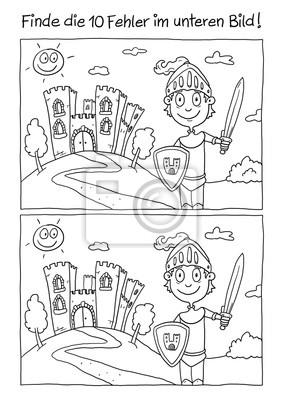 Ausmalbild Ritter Leinwandbilder O Bilder Fehler Mittelalter 10