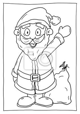 Ausmalbild Weihnachtsmann Leinwandbilder Bilder Nikolaus